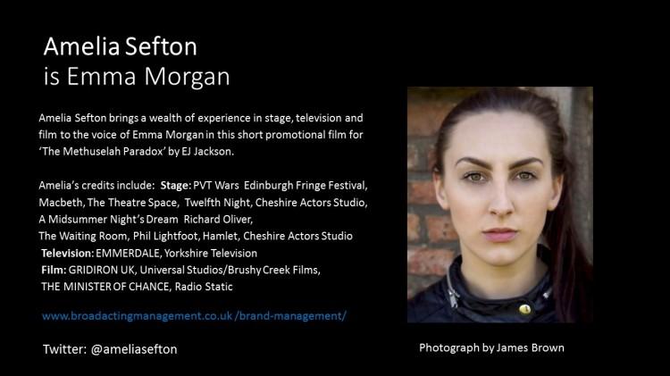 Amelia Sefton is Emma Morgan