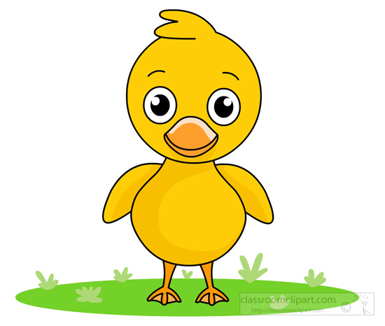 little-cute-yellow-duck-standing-1115byClassroomClipart